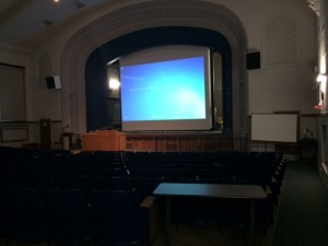 Though the projection system was not there in 1967, this lecture hall was. I took this shot recently from the seat I sat in nearly 50 years ago.