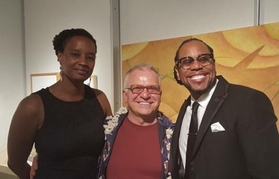 Damia, James, and me at RedLine Gallery on June 20, 2015